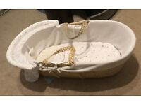 Moses Basket, in excellent condition.