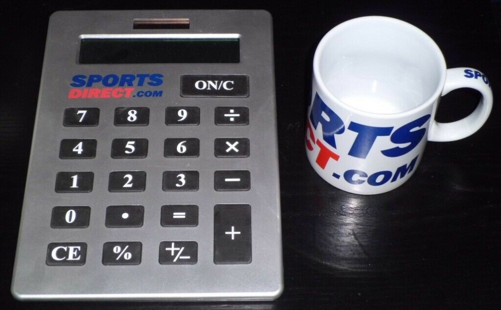 'Sports Direct' Giant Mug & Calculator | in Reading, Berkshire | Gumtree