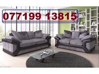 * CLEARANCE SALE - EVERYTHING MUST GO * BLACK AND GREY 3+2 SOFA AVAILABLE - FAST DELIVERY