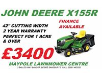 "New John Deere X155R Ride On Lawnmower 42"" Cut - Pay off over time option!"
