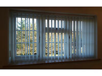 vertical blinds pale grey with pinstripe 1732w x 945h 68in x 37in