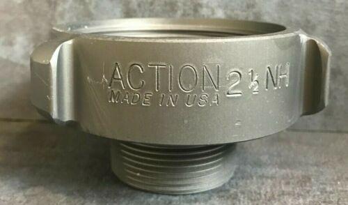 """Aluminum Fire Hose Adapter, 2.5"""" F.NST x 1.5"""" M.NPT Rocker Lug"""