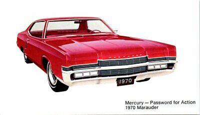 Postcard 1970 Mercury Marauder Advertising Ad Vintage Auto VTG Car Password C5
