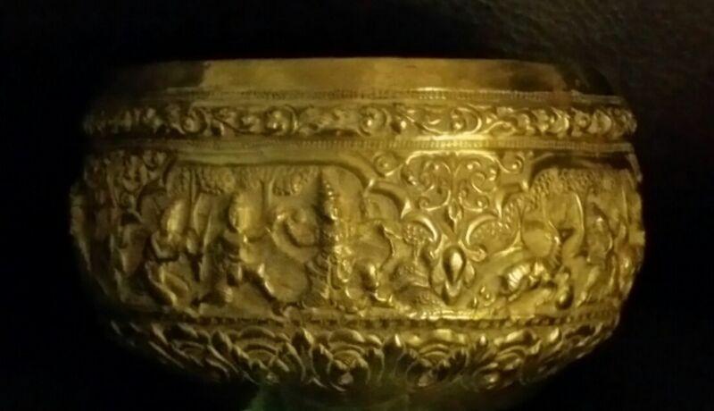 Antique Asian Thabeik Monk Bowl,Buddhism,Mythology,Burma,Thailand,Siam Handmade