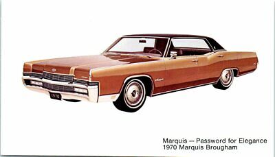 Postcard 1970 Marquis Brougham Vintage VTG Ad Advertising Car Auto Mobile C5