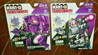 KRE-O Transformers Kreon Battle Changers: MEGATRON & SHOCKWAVE Building Toy!