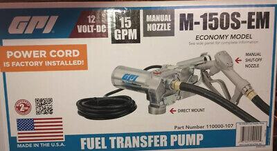 Gpi 12 Volt Fuel Transfer Pump - 15 Gpm Model M-150s-em