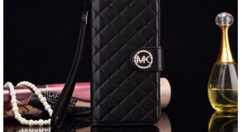 Image of Michael Kors Iphone 6/6s Flip Wallet Case Mk Cover  Latest Design - Black