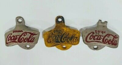 Vintage Drink Coca Cola Bottle Openers, Starr x , 3 Coke Soda Collector Items
