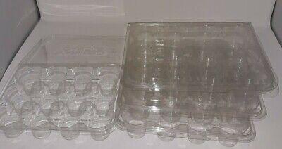 4 Yankee Candle Votive/Tart Storage Case Holders Plastic