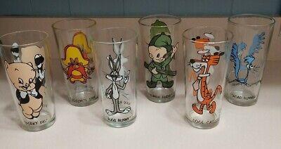 LOT OF 6 Vintage 1973 Looney Tunes Cartoon Pepsi Collector Series Glasses