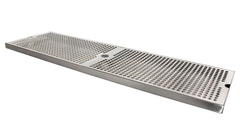 """Kegco SESM-309D 30"""" x 9"""" Surface Mount Drip Tray with Drain"""
