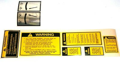 Ford Tractor Safety Pto Decal Set 2310 2610 2810 2910 3610 3910 4110 4610 5610
