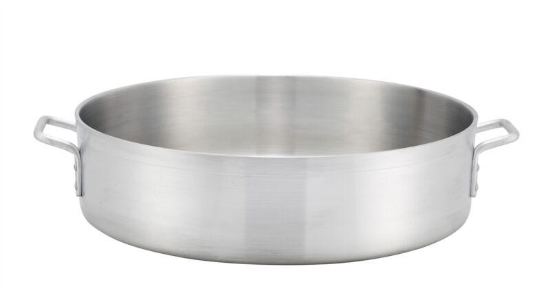 Winco ALBH-40, 40-Quart Precision Extra-Heavy Aluminum Brazier Pan
