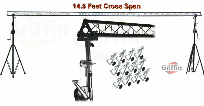 Crank Up Triangle Truss Light Stand – DJ Booth Lighting Trussing Stage Mount PA