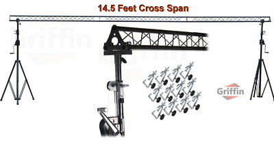 Crank Up Triangle Truss Light Stand System   Dj Lighting Trussing Stage Mount Pa