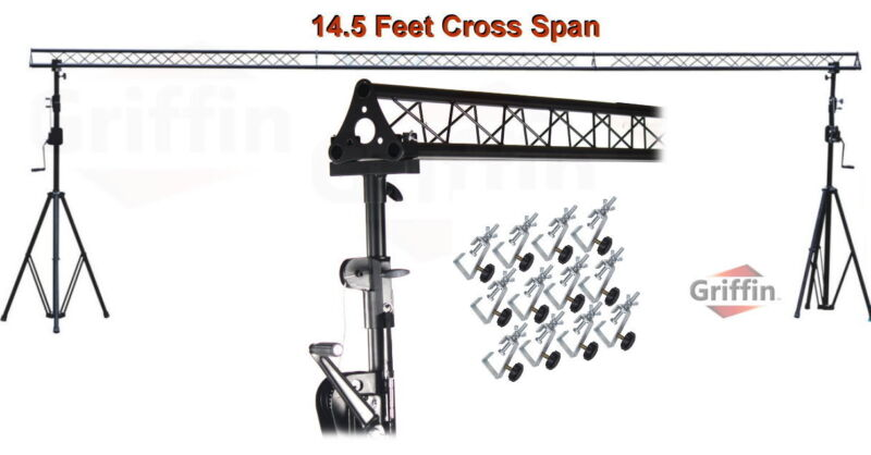 Crank Up Triangle Truss Light Stand System – DJ Lighting Trussing Stage Mount PA