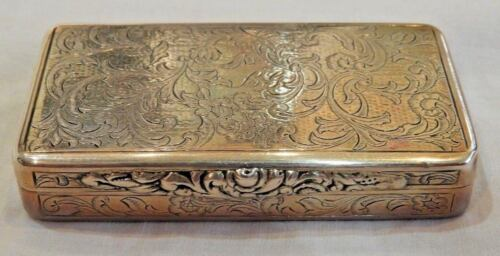 Antique Silver Miniature Box with Vermeil Interior