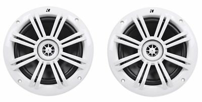"Pair Kicker 12KM60 6.5"" 150 Watt Peak/50 Watt RMS Marine Boat Speakers"