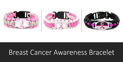 Breast Cancer Awareness Paracord Bracelets Survival Bracelet Womens Ladies Sport](Breast Cancer Awareness Bracelets)