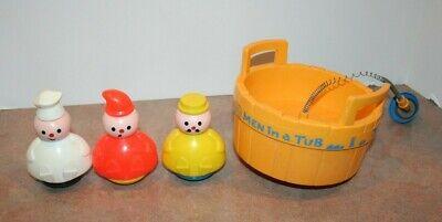 Vintage Fisher Price 142 - 3 Men In A Tub 1970