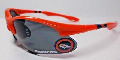 READ LISTING! Denver Broncos BULLSEYE XLGE 3D logo on ORANGE BLADE Sunglasses! - Bullseye Sunglasses