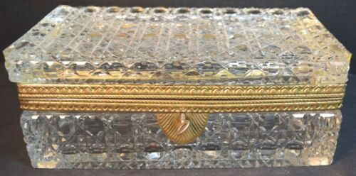 Bronze Mounted French Cut Crystal Box