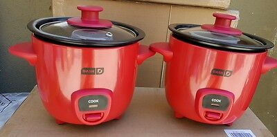 Shiver 2 PIECE MINI RICE COOKER DRCM100RD RED COLOR.