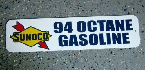 SUNOCO 94 OCTANE GASOLINE SIGN  SERVICE STATION 260 HIGH TEST PREMIUM GAS OIL