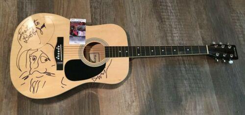 Jeff Bridges signed Acoustic Guitar W/ Drawing Sketch JSA COA RARE Big Lebowski