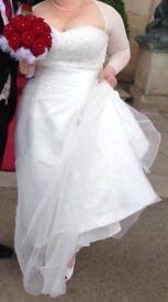 BARGAIN size 18 ivory wedding dress