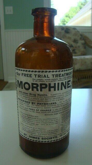 St. James Society Morphine Medicine Remedy Reproduction Bottle for Drug Habits
