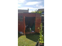 5 sided Garden shed with double door entry and double windows