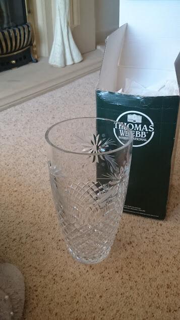 Beautiful 10 Edinburgh Crystal Vase By Thomas Webb Unused Gift