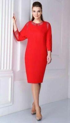 Vestido de talla grande (16, 18) de Europa con tejido natural.