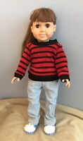 Doll Clothes - Blue Jeans with Sweater Outfit