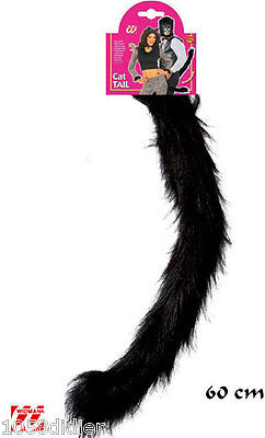 -schwanz Katze Schwarz Kostüm Herren Frau Kind Animal Neu Billig