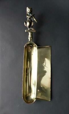 Rare 19th c Brass Crumb Catcher With