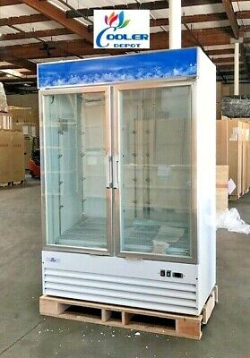 New 81 Two Glass Door Freezer Icemerchandiser Restaurant Frozen Food Nsf