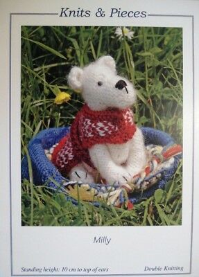 Knits & Pieces Milly Toy Dog & Bed Blanket Bone & Ball Toys Knitting Pattern
