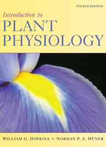 Introduction to Plant Physiology - 4th Edition - Hopkins