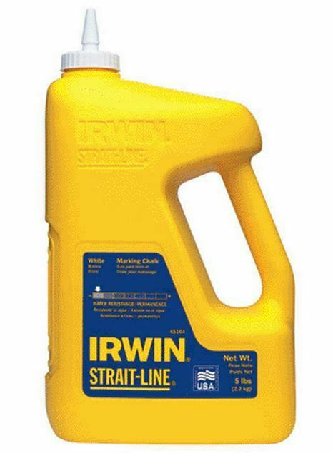 Irwin 65104 Straight Line Indoor And Outdoor Chalk, 5 Lb