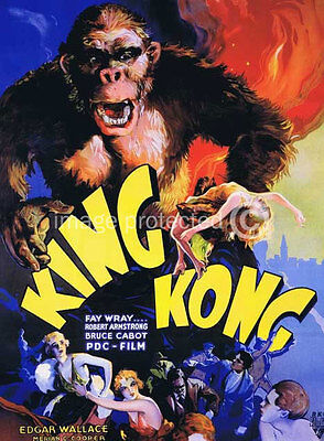 King Kong 1933 US Release Version 2 Vintage Movie 11x17 Poster
