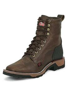 Tony lama men s tlx signature bark badger lace up western work boots