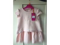Ted Baker baby girl tutu pink dress 18-24 New with tag