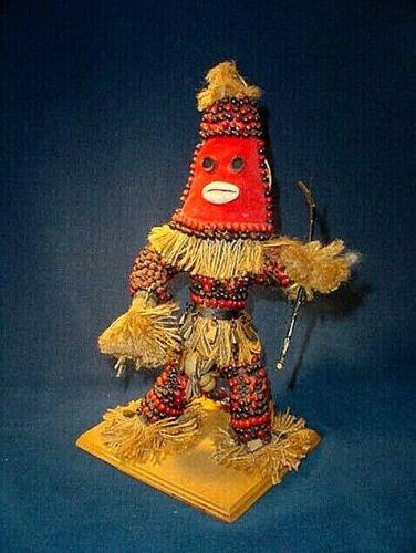 "Elaborate Vintage Afro Cuba Secret Society ABAKUA 11"" Ceremonial Dancer Doll"