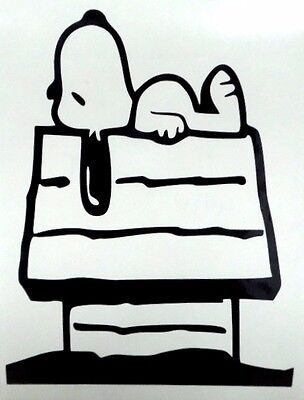 Snoopy Doghouse Cool Funny Dog Car Window Vinyl Decal Sticker Choose 12 Colors