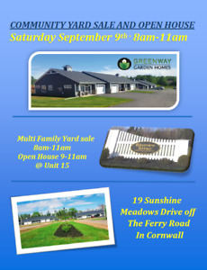 Community Yard Sale and Open House