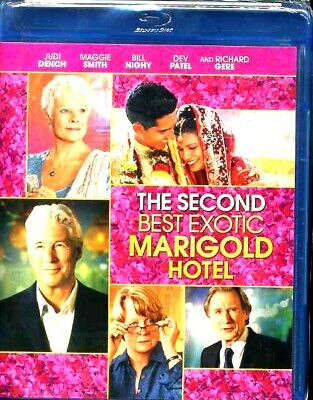 NEW The Second Best Exotic Marigold Hotel Blu Ray DISC MOVIE Judi Dench (Best Exotic Marigold 2)