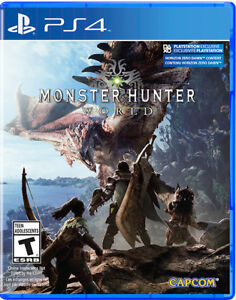 Monster Hunter World PS4 Perfect Condition